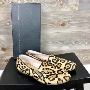 Steven Steve Madden Pony Hair Animal Print Flats